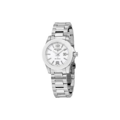 ロンジン 腕時計 Longines Conquest ホワイト ダイヤル ステンレス スチール レディース 腕時計 L3.257.4.16.6