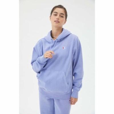チャンピオン Champion レディース パーカー トップス UO Exclusive Classic C Patch Hoodie Sweatshirt Light Blue