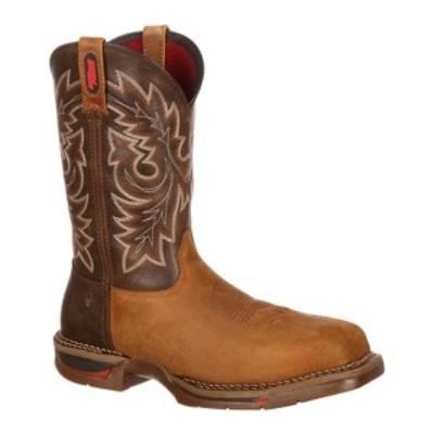 """ロッキー メンズ ブーツ&レインブーツ シューズ 11"""" Long Range Western Carbon Fiber Toe 6132 Brown/Tobacco Leather"""