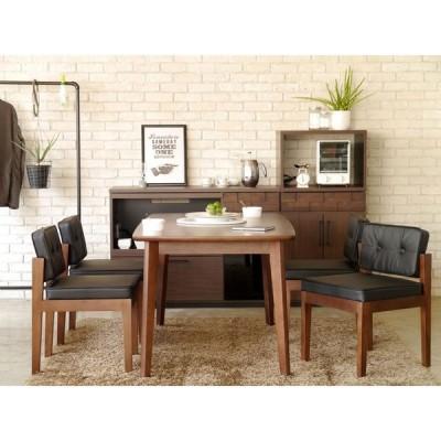 ウォールナットダイニングテーブルとチェア4脚セット colk-chairset