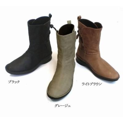 その他ブーツ ブーツ レディースシューズ レディースファッション 靴 本革 ソフトカジュアル ミドルブーツ 22.0 24.5 3色展開 起毛 ワックス仕上げ レザー