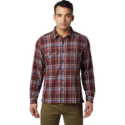マウンテンハードウェア シャツ メンズ トップス Mountain Hardwear Men's Woolchester LS Shirt Dark Umber