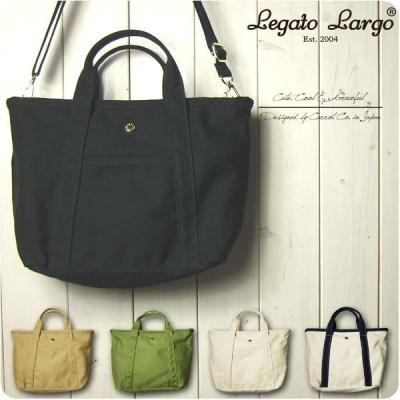 Legato Largo レガートラルゴ ショルダーバッグ レディース テフロン加工キャンバス 2WAY ミニ トートバッグ