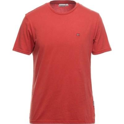 ナパピリ NAPAPIJRI メンズ Tシャツ トップス T-Shirt Rust