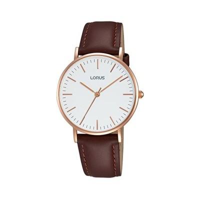 Lorus Klassik Ladies Quartz Watch with White Dial Analogue Display and Brown Leather Strap  RH886BX9 並行輸入品