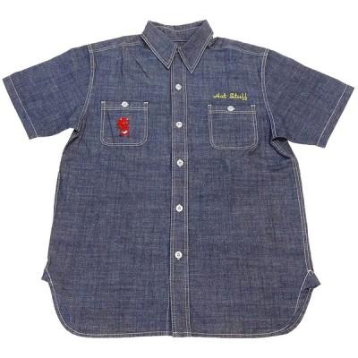 (TEN STRIKE) テンストライクシャンブレーワークシャツ (Lサイズ)