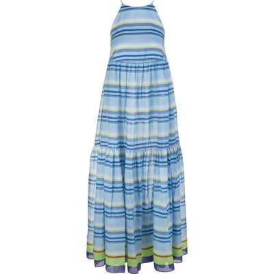 ジャーダ ベニンカサ ワンピース カジュアルドレス 結婚式用 レディースGiada Benincasa Striped Long Dress With American N