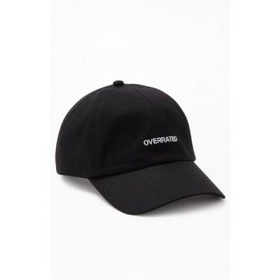 パクサン PacSun メンズ キャップ ダットハット スナップバック 帽子 overrated strapback dad hat Black