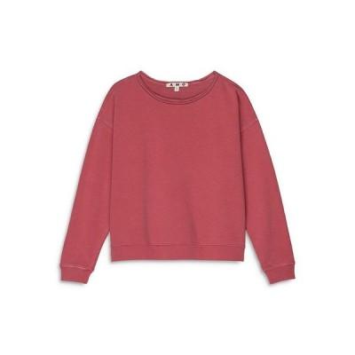 アモ レディース シャツ トップス Cotton Raw Edge Sweatshirt