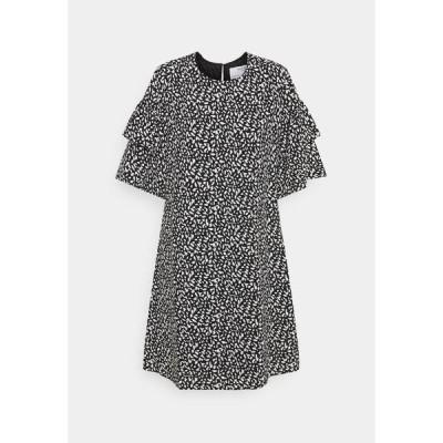 セレクテッドフェム ワンピース レディース トップス SLFCARLA 2/4 SHORT DRESS - Day dress - black