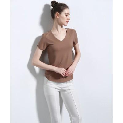 aimoha / Ladiesシームレス/リブTeeシャツ WOMEN トップス > Tシャツ/カットソー