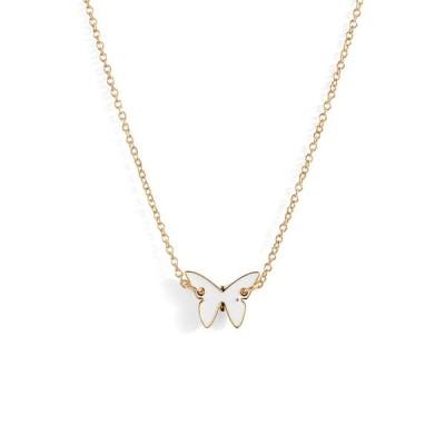 ジェニファーズーナー JENNIFER ZEUNER レディース ネックレス ジュエリー・アクセサリー Mini Mariah Enamel Butterfly Necklace White