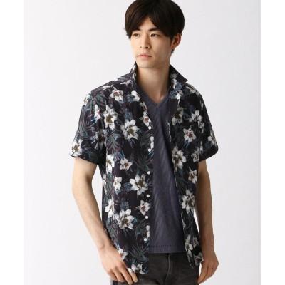【ハイダウェイニコル】 オープンカラープリントシャツ メンズ 94その他5 46(M) HIDEAWAYS NICOLE