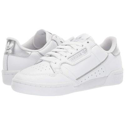 アディダス オリジナルス Continental 80 レディース スニーカー Footwear White/Footwear White/Silver Metallic