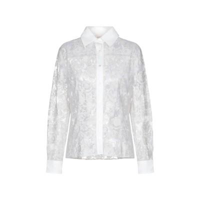 クルチアーニ CRUCIANI シャツ ライトグレー 40 84% ナイロン 16% ポリウレタン シルク シャツ