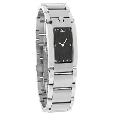腕時計 モバード Movado Elliptica レディース ブラック ダイヤル スイス クォーツ 腕時計 0604706