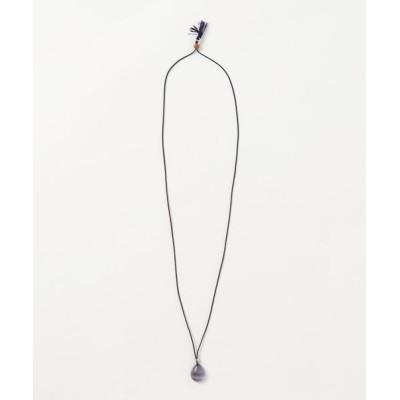 チャイハネ / 【岩座】フローライト絹紺紐ネックレス WOMEN アクセサリー > ネックレス