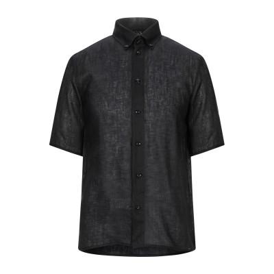 エンポリオ アルマーニ EMPORIO ARMANI シャツ ブラック 39 リネン 100% シャツ