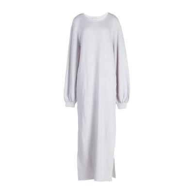 FINE EDGE ロングワンピース&ドレス ライトグレー XS コットン 96% / ナイロン 4% ロングワンピース&ドレス