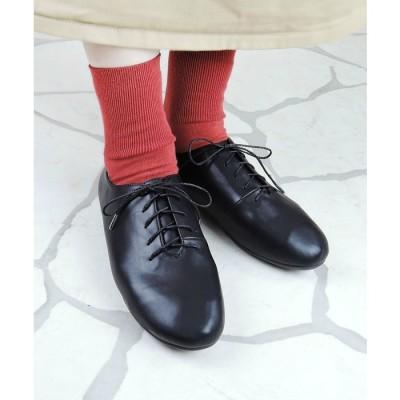 minia レースアップダンスシューズ 【 alala / minia ミニア 】 オックスフォード おじ靴 マニッシュ ぺたんこ ひも靴 バレエシューズ 歩きやすい レディース シューズ 靴 シルバー 22.5cm レディース