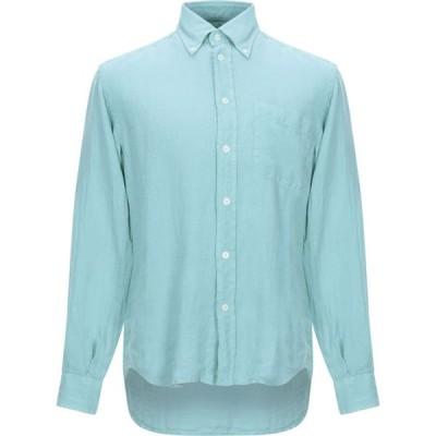 HARDY CROBB'S メンズ シャツ トップス linen shirt Turquoise