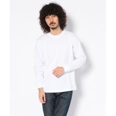 【アンカットバウンド】 HANES (へインズ)BEEFY LONG SLEEVE T−SHIRTS ビーフィーロングスリーブTシャツ メンズ ホワイト S UNCUT BOUND