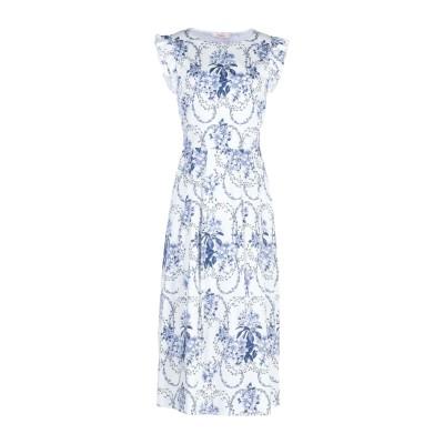 ブルーガール ブルマリン BLUGIRL BLUMARINE 7分丈ワンピース・ドレス ホワイト 44 97% コットン 3% ポリウレタン 7分丈