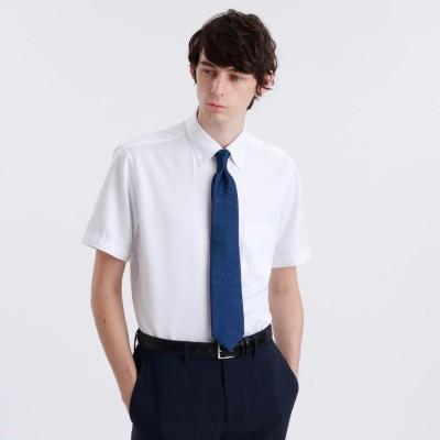 マッキントッシュ フィロソフィー MACKINTOSH PHILOSOPHY トロッターシャツ 半袖ボタンダウン (ホワイト)