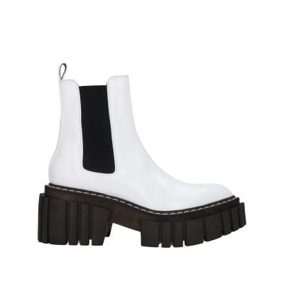 ステラ マッカートニー STELLA McCARTNEY ショートブーツ ホワイト 36.5 紡績繊維 ショートブーツ