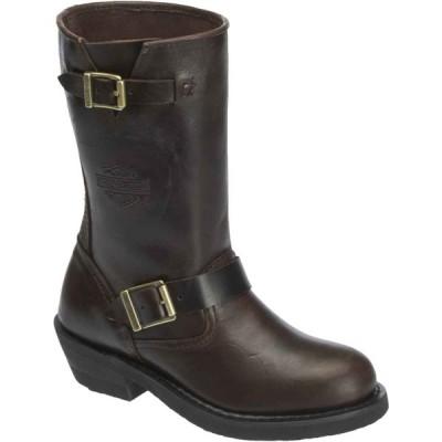 レディース シューズ ブーツ ハーレーダビッドソン Harley-Davidson Womens Dartford Black or Brown Leather Boots. D83803 D83804