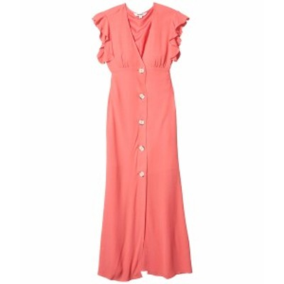 ビービーダコタ レディース ワンピース トップス That's Amore Textured Crepe Button Front Midi Dress Bright Rose