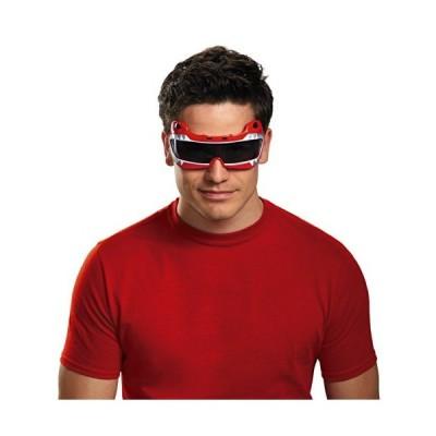 Disguise 赤メンズサバン強大なMorphinレンジャー大人の衣装アクセサリーメガネ 並行輸入品