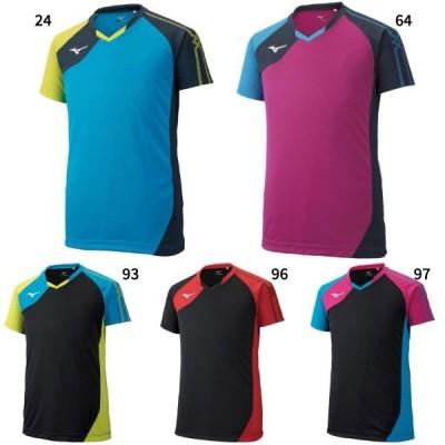ミズノ メンズ レディース ジュニア ゲームシャツ バレーボール バレーボールウェア トップス 半袖 ゲームシャツ V2MA9001