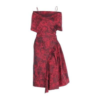 マイケル・コースコレクション MICHAEL KORS COLLECTION 7分丈ワンピース・ドレス レンガ 2 ポリエステル 45% / ウール