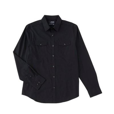 ムラノ メンズ シャツ トップス Wardrobe Essentials Slim-Fit Solid Dual-Pocket Long-Sleeve Woven Shirt