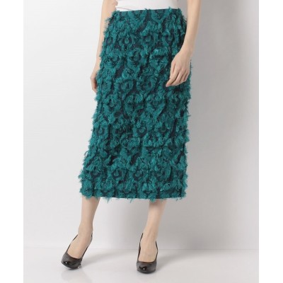 【トーナル】 ジャガードロングタイトスカート レディース グリーン 36 TONAL