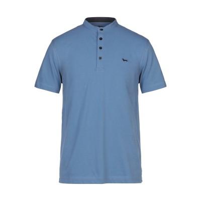 HARMONT&BLAINE T シャツ ブルーグレー L コットン 95% / ポリウレタン 5% T シャツ