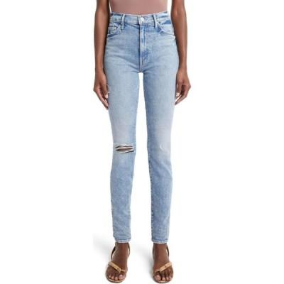 マザー MOTHER レディース ジーンズ・デニム ダメージ加工 スキニー The Super Swooner Ripped High Waist Skinny Jeans Out W/The Old In W/The New