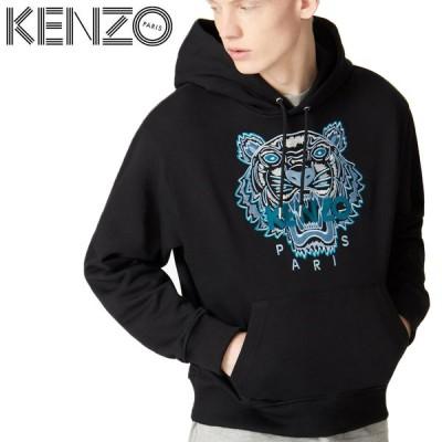 9 KENZO ケンゾー 20aw FA65SW3104XA ブラック タイガー プルオーバー パーカー フーディー