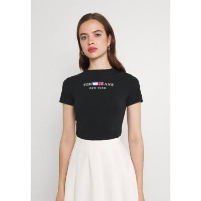 トミーヒルフィガー Tシャツ レディース トップス TIMELESS BODY - Print T-shirt - black