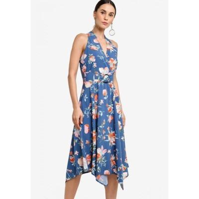 ザローラ ZALORA レディース パーティードレス ワンピース・ドレス Handkerchief Hem Dress Blue/Multi
