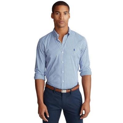 ラルフローレン シャツ トップス メンズ Men's Classic Fit Performance Twill Shirt Royal/White