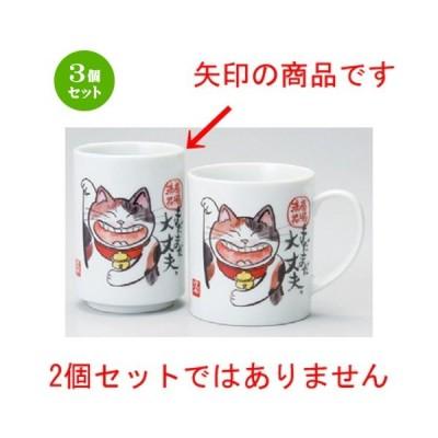 3個セット ☆ 日本土産 ☆ 寿司湯呑まだまだ大丈夫 [ 73 x 103mm ] 【お土産 和物 浮世絵 贈り物 猫 ネコ cat プレゼント メッセージ 】