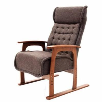 ヤマソロ 83-805 コイルバネ高座椅子【紅葉】 色:ブラウン (83805)
