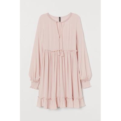 H&M - タイデザインワンピース - ピンク