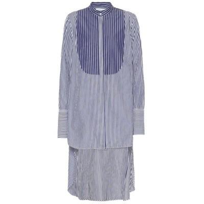 モンス Monse レディース ブラウス・シャツ トップス Striped cotton shirt Blue/White