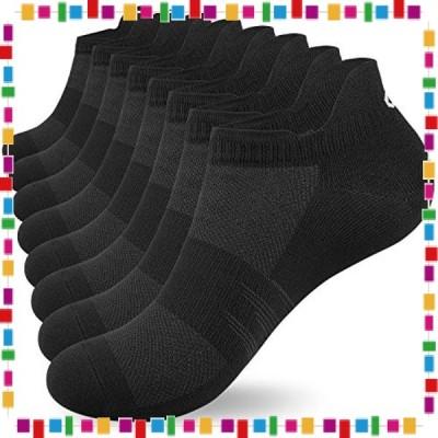 LANYI スポーツソックス 靴下 メンズ レディース 8足組 トレーニングソックス フィットネス ランニングソックス