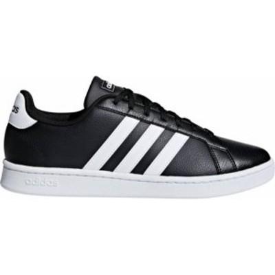 アディダス メンズ スニーカー シューズ adidas Men's Grand Court Shoes Black/White