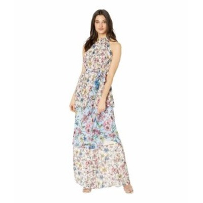Juicy Couture ジューシークチュール ドレス 一般 SW Floral Print Mix Pleated Maxi Dress