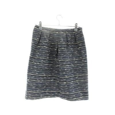 【中古】ノーリーズ Nolley's スカート 台形 ミニ 総柄 36 紺 ネイビー /M1 レディース 【ベクトル 古着】